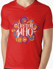 Whimsically Wibbly Wobbly Timey Wimey - Dark Shirt The Second Mens V-Neck T-Shirt