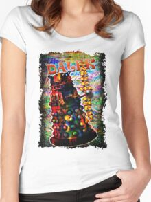 Dalek - Exterminate! by Mark Compton Women's Fitted Scoop T-Shirt