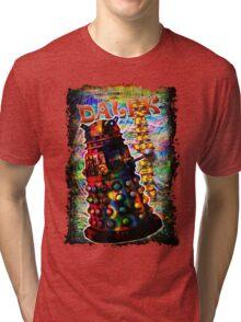 Dalek - Exterminate! by Mark Compton Tri-blend T-Shirt