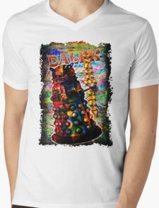 Dalek - Exterminate! by Mark Compton Mens V-Neck T-Shirt