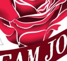 Team Josh Ribbon and Rose Sticker