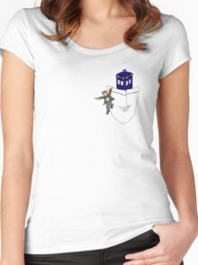 Timey Wimey Pockety Wockety Women's Fitted Scoop T-Shirt