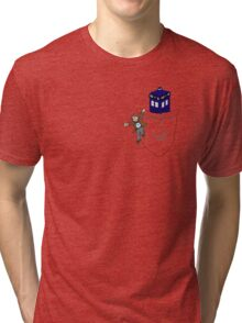 Timey Wimey Pockety Wockety Tri-blend T-Shirt
