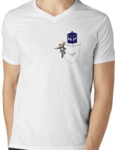 Timey Wimey Pockety Wockety Mens V-Neck T-Shirt