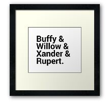 Buffy The Vampire Slayer Character Names (1) Framed Print