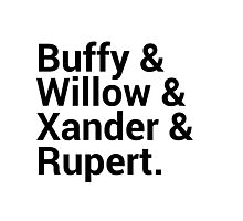 Buffy The Vampire Slayer Character Names (1) Photographic Print