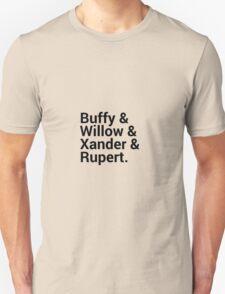 Buffy The Vampire Slayer Character Names (1) T-Shirt