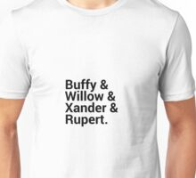 Buffy The Vampire Slayer Character Names (1) Unisex T-Shirt