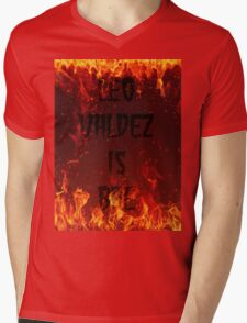 LEO Valdez is BAE Mens V-Neck T-Shirt