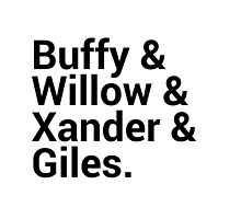 Buffy The Vampire Slayer Character Names by onezenmom