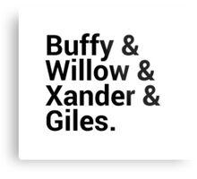 Buffy The Vampire Slayer Character Names Metal Print