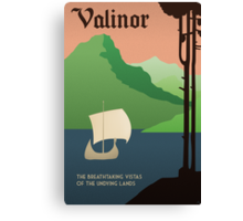 Travel Middle Earth: Valinor Canvas Print