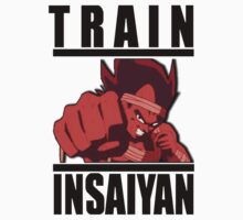train insaiyan VEGETA (black) by KingKoko