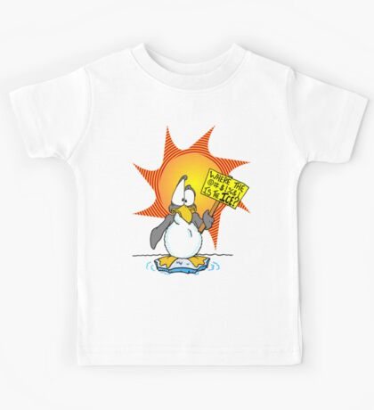 Penguin Misses the Ice Kids Tee