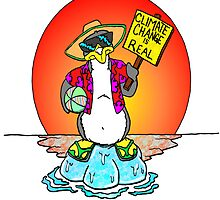 Global Warming Penguin by Skree