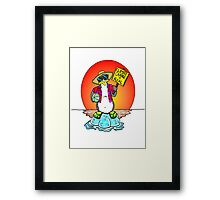 Global Warming Penguin Framed Print