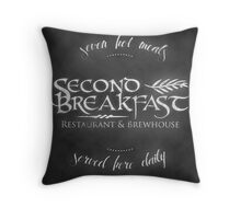 Second Breakfast Restaurant & Brewhouse Throw Pillow