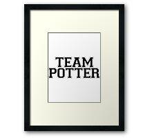 TEAM POTTER Framed Print