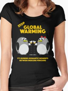 Global warming is ruining romantic moments Women's Fitted Scoop T-Shirt