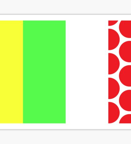 Tour de France Jerseys (Vertical) Sticker