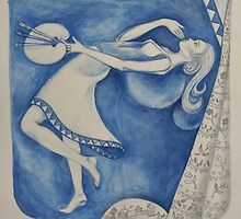 The (Woman) Painter: to the moon (after Chagall) by Thea (tatefox)