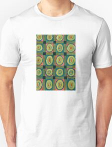 Strong Green Grid filled with Yellow Circles Unisex T-Shirt