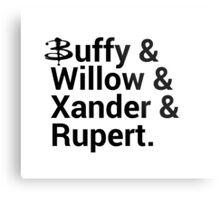 Buffy The Vampire Slayer Names  Metal Print