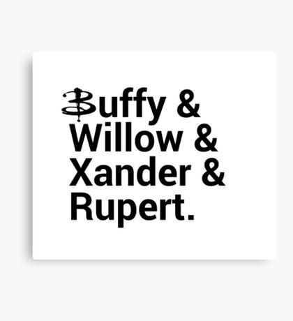 Buffy The Vampire Slayer Names  Canvas Print