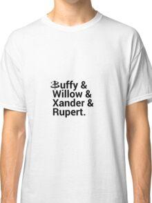 Buffy The Vampire Slayer Names  Classic T-Shirt