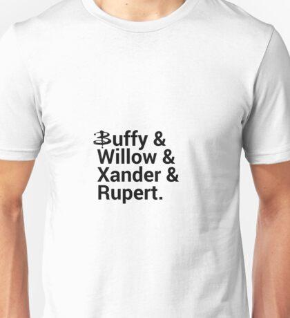 Buffy The Vampire Slayer Names  Unisex T-Shirt