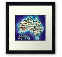 Pictorial Australia Framed Print