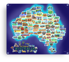 Pictorial Australia Canvas Print