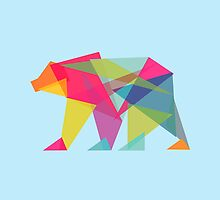 Fractal Bear - neon colorways by Budi Satria Kwan