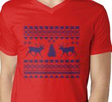 Ugly Sweater Design Mens V-Neck T-Shirt