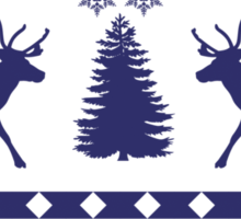 Ugly Sweater Design Sticker