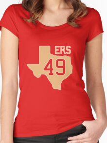 Texas for 49ers  Women's Fitted Scoop T-Shirt