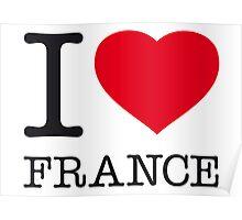 I ♥ FRANCE Poster