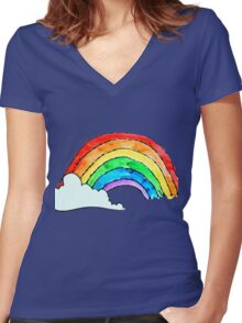 I Can Sing A Rainbow Women's Fitted V-Neck T-Shirt