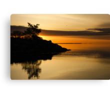 Orange Sunrise Canvas Print