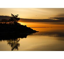 Orange Sunrise Photographic Print
