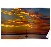 Sunset at Cowes Poster