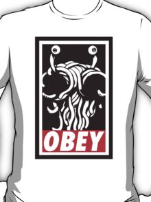 Flying Spaghetti Monster Obey Parody T-Shirt