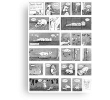 Luni's World Comic Print Canvas Print
