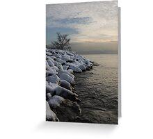 Clearing Snowstorm - Lake Ontario, Toronto, Canada Greeting Card