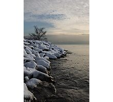 Clearing Snowstorm - Lake Ontario, Toronto, Canada Photographic Print