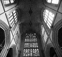 Bath Abbey, Roof by JackDowling