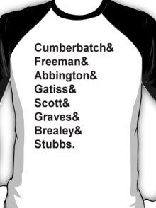 Sherlock cast member names  T-Shirt