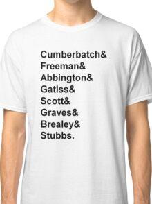 Sherlock cast member names  Classic T-Shirt