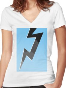 Storm Bolt Women's Fitted V-Neck T-Shirt