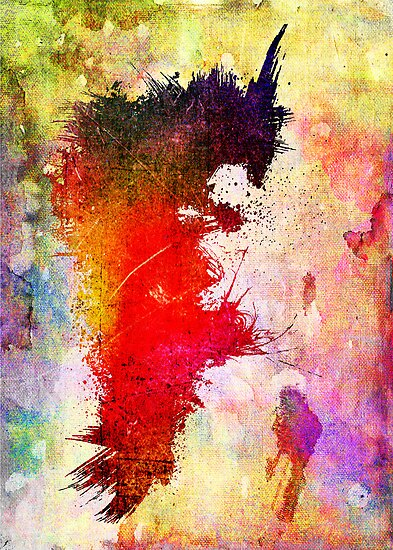 Transitory - Canvas Texture - Abstract Face by Denis Marsili